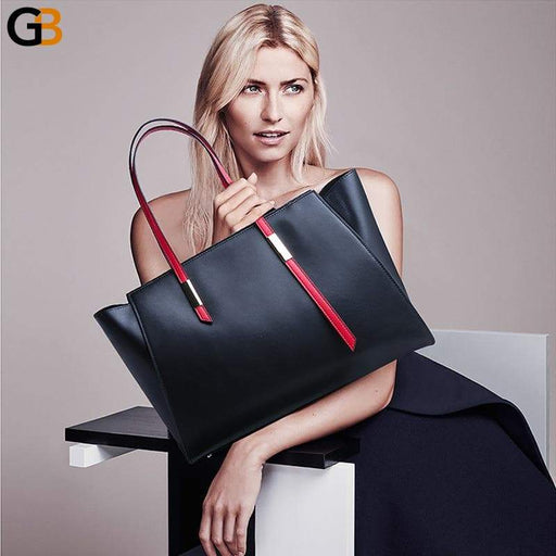 Women's Big Genuine Leather Shoulder Luxury Designer Handbags - SolaceConnect.com