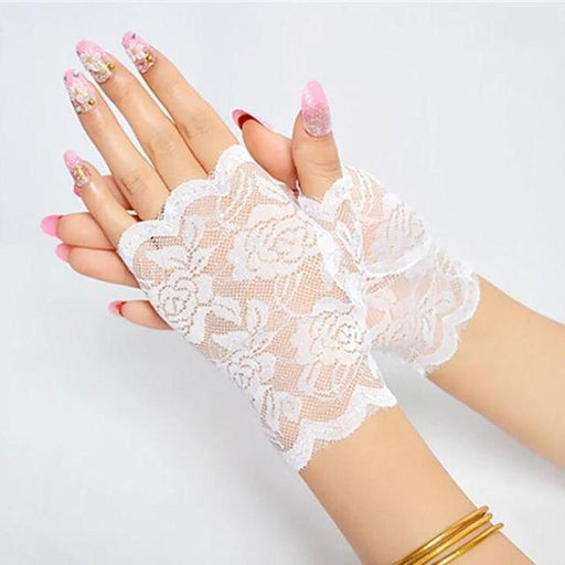 Sailor Dance Long Fingerless Womens Sexy Lace Gloves Ladies Half Finger Fishnet Gloves Heated Mesh - SolaceConnect.com