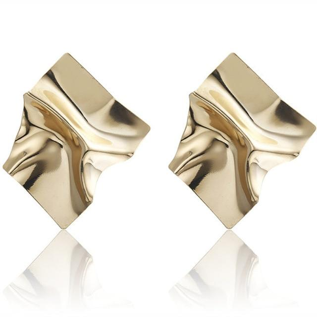 Creative European American Geometry Exaggeration Metal Earrings for Women - SolaceConnect.com