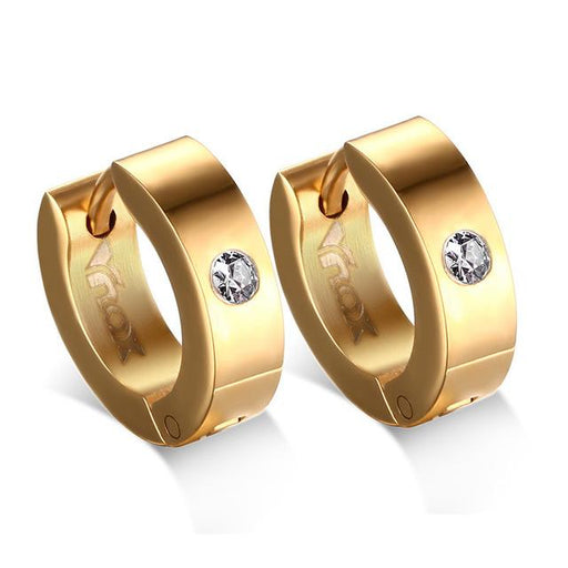 Hoop Earrings For Women Men Stainless Steel Ear Cuff Brincos Huggie Jewelry - SolaceConnect.com