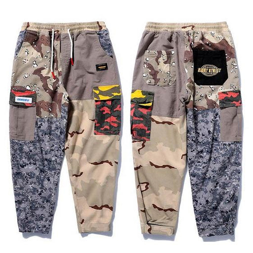 Harajuku Hip Hop Casual Camouflage Streetwear Baggy Cargo Pants for Men - SolaceConnect.com