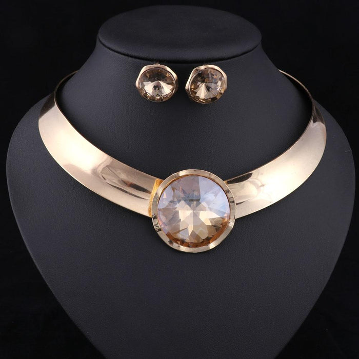 Fashion Women's Party Wedding Statement Necklace Earrings Jewelry Sets - SolaceConnect.com