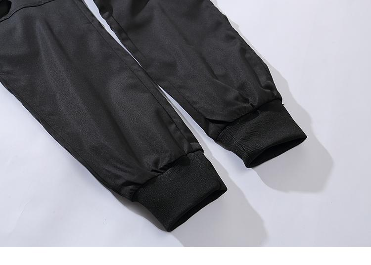 Hip Hop Streetwear Cargo Pants Pocket Men Harajuku Harem Pant Swag Ribbon Joggers Pants Black HipHop - SolaceConnect.com