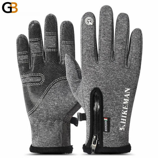 Winter Mittens Touched Screen Gloves Waterproof Men Women Warm Windproof Bicycle Anti Slip Mittens - SolaceConnect.com