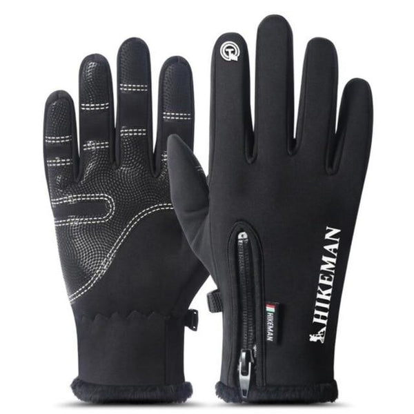 Unisex Winter Windproof Waterproof Anti Slip Bicycle Touched Screen Mittens - SolaceConnect.com