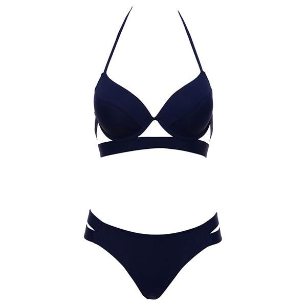Sexy Women's Low Waist Bandage Halter Push Up Bikini Swimwear Bathingsuit - SolaceConnect.com