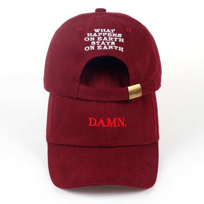 Unisex Kendrick Lamar Damn Embroidery Unstructured Dad Hat Bone Hat Cap - SolaceConnect.com
