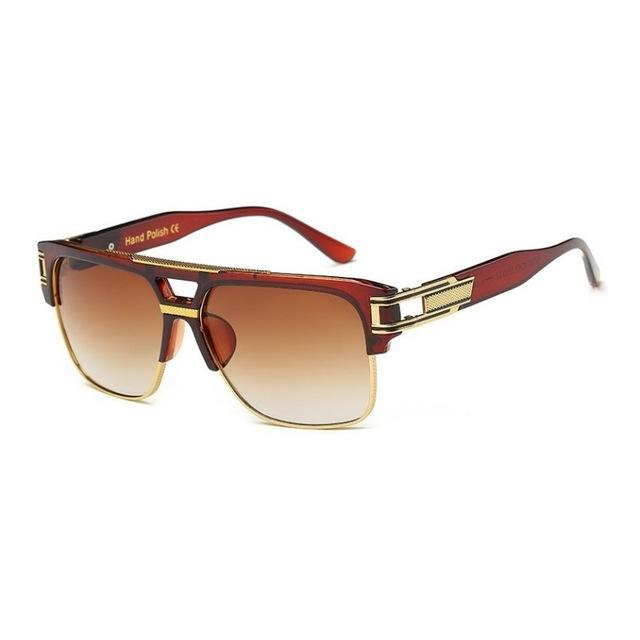Classic Retro Vintage Luxury Fashion Unisex Glamour Mirrored Sunglasses - SolaceConnect.com