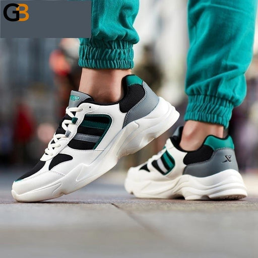 Men's Sports Old Shoes Lightweight Breathable Shock Absorption Trend Casual Shoes - SolaceConnect.com