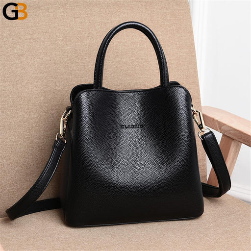 Luxury Designer Ladies Famous Genuine Leather Crossbody Shoulder Handbags - SolaceConnect.com