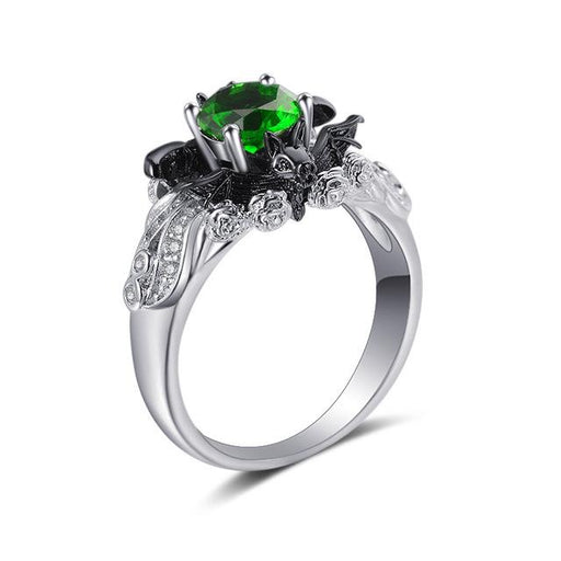 Halloween Fashion Gothic Zircon Wedding Engagement Rings for Women - SolaceConnect.com