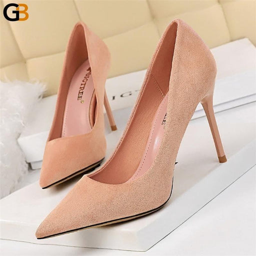Spring Sexy Women Blue Green Yellow Stiletto High Heels Pumps Tacones Elegant Office Ladies Pencil - SolaceConnect.com