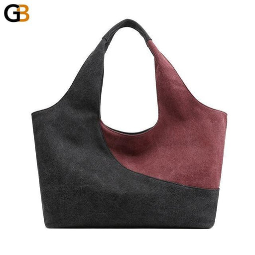 Luxury Women's Retro Classic Top-handle Large Capacity Canvas Shoulder Bag - SolaceConnect.com