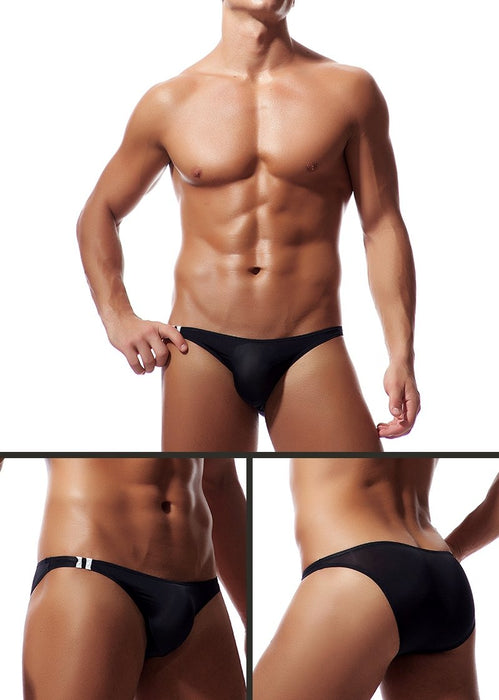 Sexy Men's Soft Silk Breathable Transparent Jockstrap Briefs Underwear - SolaceConnect.com