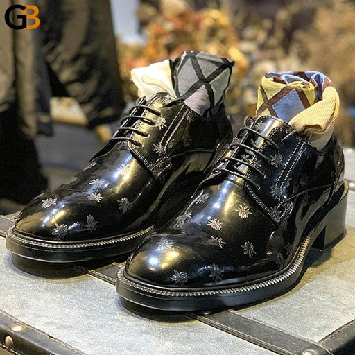 Italian Leather Shoes Men Luxury Wedding Dress Shoes Male Oxfords Fashions Lace Up Business Derby - SolaceConnect.com