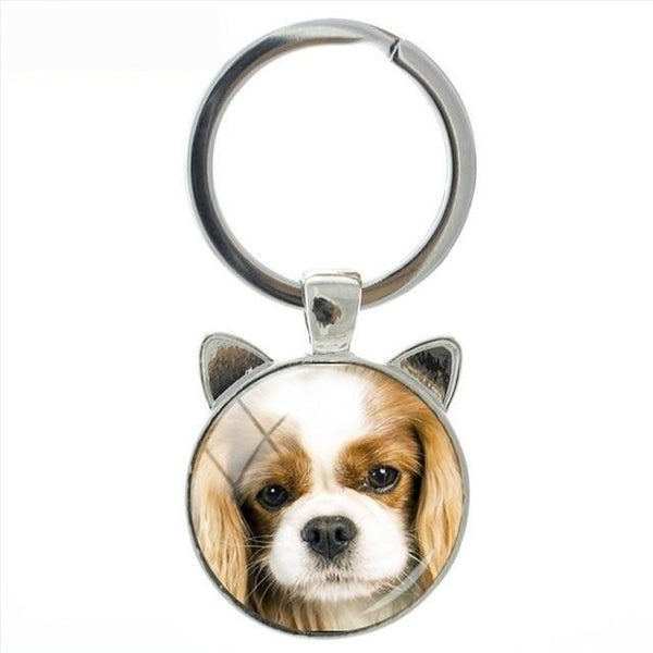 Novelty Fashion Simple and Honest Handmade Dog Cat Ear Keychain Jewelry - SolaceConnect.com