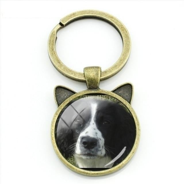 Novelty Fashion Antique Bronze Plated Cartoon Dog Cat Ear Animal Keychain - SolaceConnect.com