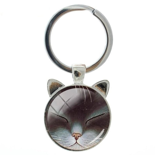 Fashion Vintage Lovely Space Good Night Cats Animal Ear Pendant Keychain - SolaceConnect.com
