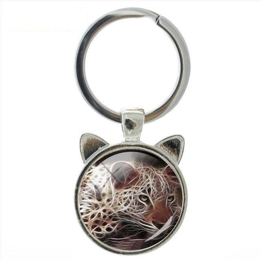 Labrador Wolf keychain Family Affection Animal in nature key chain art exquisite workmanship - SolaceConnect.com