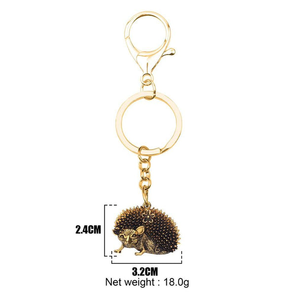 Cool Fashion Hipster Hedgehog Wild Animal Alloy Keychain Keyring Jewelry - SolaceConnect.com