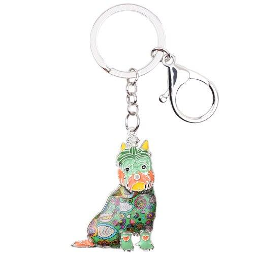 Statement Enamel Alloy Schnauzer Dog Key Chain Key Ring For Women Man Pendant Charm Pendant Animal - SolaceConnect.com