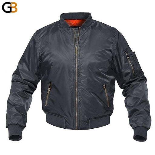 Winter Military Style Bomber Cotton Padded Casual Baseball Jackets for Men - SolaceConnect.com