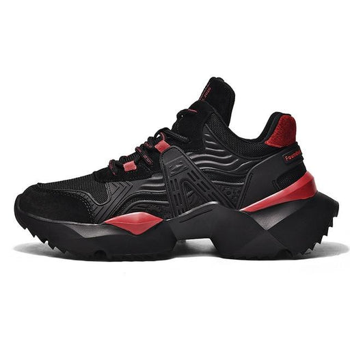 Men's Comfortable Thick Sole Outdoor Athletic Shoes Platform Sneakers - SolaceConnect.com