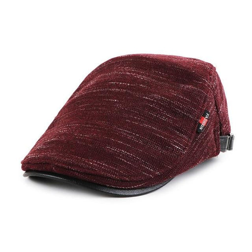 Unisex Fall Winter Classic Knitted Cabbie Gorras Planas Beret Caps Hats - SolaceConnect.com