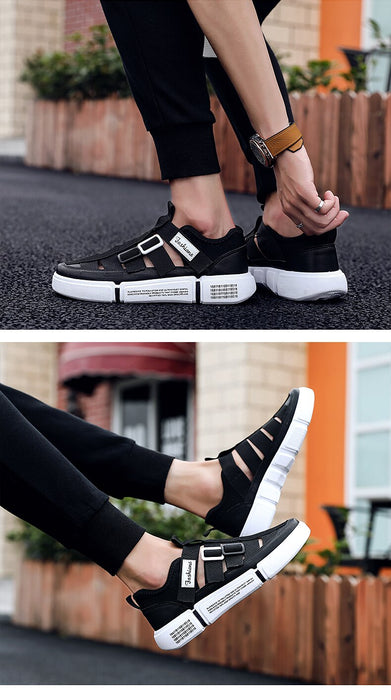 Fashion Men's Breathable Cutout Athletic Sports Running Shoes Sneakers - SolaceConnect.com