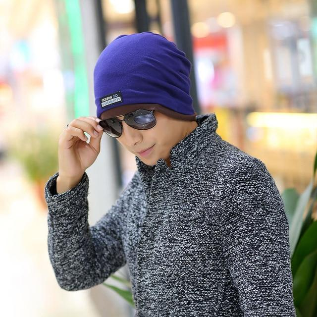 Multifunctional hat Collar for men head cap cotton cloth standard solid piles of spring and autumn - SolaceConnect.com
