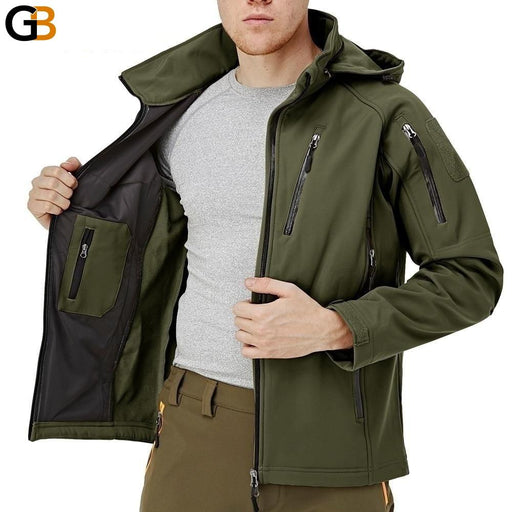Tactical Fleece Lined Waterproof Military Air Soft Men's Jacket Coat - SolaceConnect.com