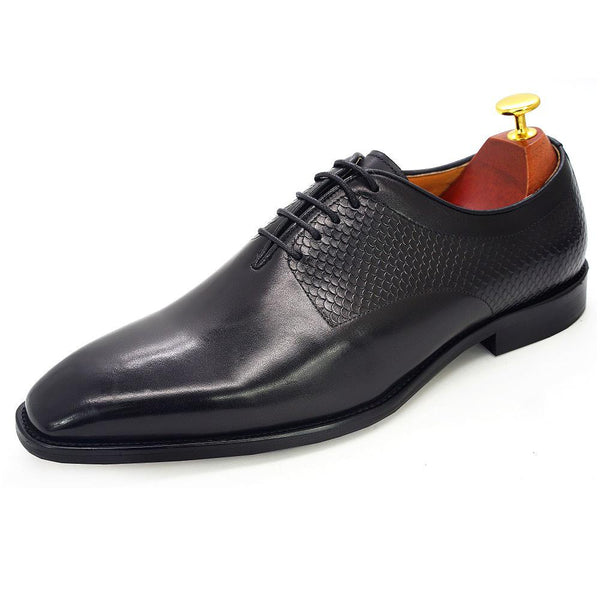 Big Size 38-47 Genuine Leather Snake Print Oxford Dress Shoes for Men - SolaceConnect.com