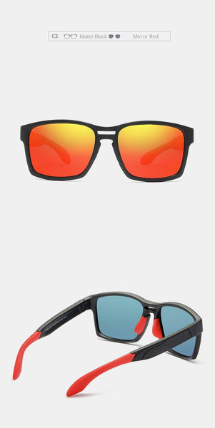 Men's Tr90 Clear View Mirror Frame Sunglasses With Elastic Rubber - SolaceConnect.com