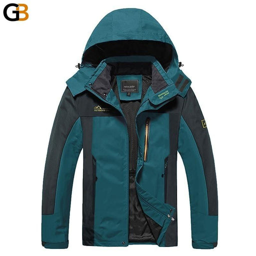 Men's Hooded Water Resistant Softshell Camp Climb Windproof Jacket - SolaceConnect.com