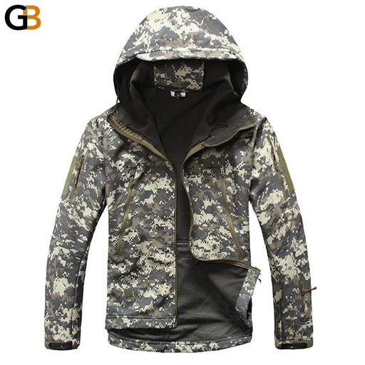Army Tactical Softshell Fleeced Waterproof Windproof Jacket for Men - SolaceConnect.com