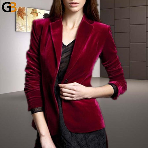 Fashion Turn Down Collar Long Sleeve Velvet Coat Women Plus Size S-10XL Jacket Customer Made - SolaceConnect.com