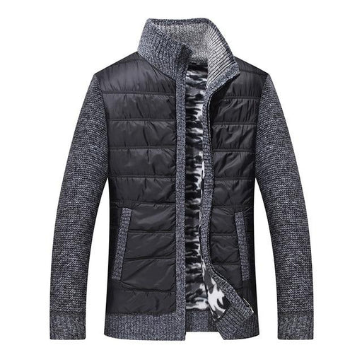 Full Cashmere Sweater Men Fleece Knitwear Mens Cardigan Clothes Patchwork Outerwear Warm Winter Male - SolaceConnect.com
