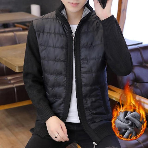 Winter Fashion Mens Cardigan Sweaters Fleece Knitted Man Coats Clothes Korean Oversized Cardigan - SolaceConnect.com