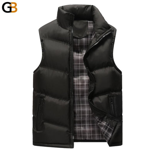 Men Winter Vest Jacket Streetwear Sleeveless Warm Jacket Polyester Mens Clothing Oversized Vests - SolaceConnect.com