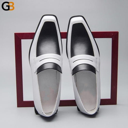 Men Business Real Leather Shoes Genuine Leather Breathable Loafers Mixed Colors British Luxury - SolaceConnect.com