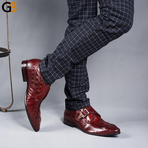 Fashion Italian Mens Dress Shoes With Buckle Designer Male Shoes Men Wedding Business Office Work Footwear Party Zapatos Hombre - SolaceConnect.com