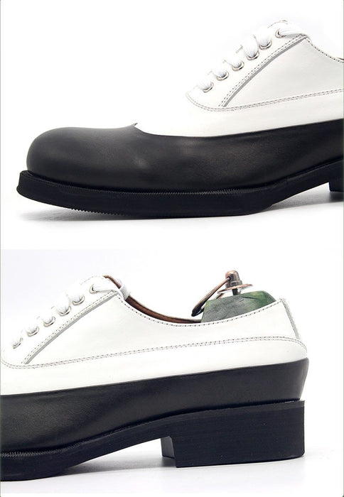 Men's Real Cow Leather Lace Up Formal Derby Shoes for Wedding - SolaceConnect.com