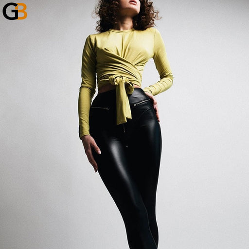 Spandex 10% Sexy Bubble Butt PU Leggings Zipper High Waist Push Up Faux Leather Pants Latex Rubber - SolaceConnect.com
