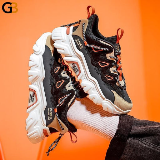 Comfortable Light Men's Chunky Sneakers Spring Autumn Breathable Street Style Adult Male Casual - SolaceConnect.com