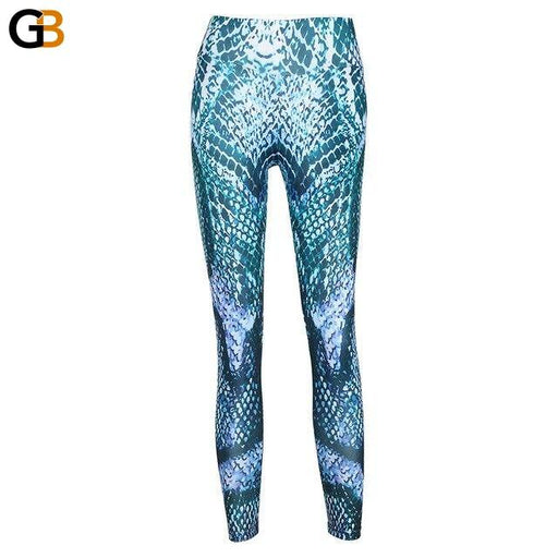 Women's Snake Printed Spandex Push Up Gym Leggings for Fitness - SolaceConnect.com