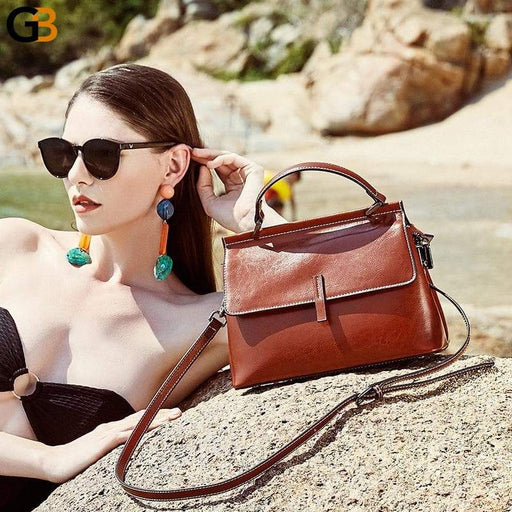 Women's Genuine Fashionable Small Leather Crossbody Hand Bags - SolaceConnect.com