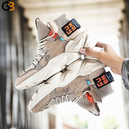 Height Increasing Fashion Street Style Men's Chunky Sneakers Winter Comfortable Man Casual Shoes - SolaceConnect.com