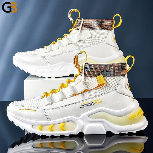 Fashion Street Style Luminous Men Chunky Sneakers Spring Autumn Light Comfortable Male Casual Shoes - SolaceConnect.com