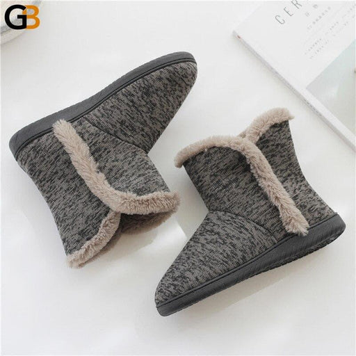 Men Women Casual Winter Home Slippers Mens Womens Warm Cotton Faux Fur Indoor Flat Shoes Male Female - SolaceConnect.com