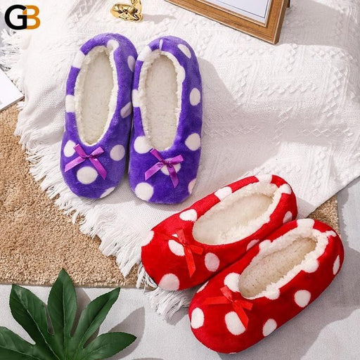 Winter Plush Slippers Women Soft Warm Home Slippers Animal Print Cute Cartoon Indoor Shoes Women - SolaceConnect.com
